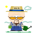 The Kal El Hemp Farmer Logo Badge - Large Icon