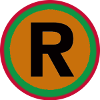 Small R-Reggae™ Trademark Symbol Logo Badge